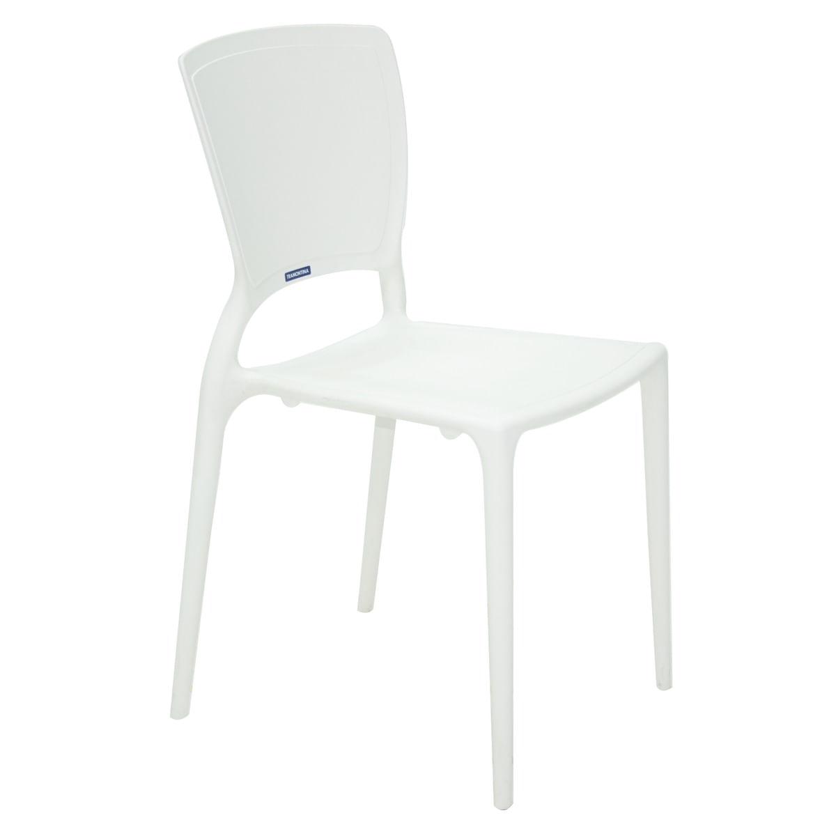fa343bbb4 Cadeira Tramontina Sofia Branca sem Braços Encosto Fechado em Polipropileno  e Fibra de Vidro